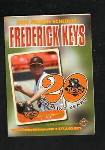 Frederick Keys--2008 Pocket Schedule--County Health Dept--Orioles Affiliate