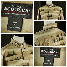 Woolrich Men's XL Button Down Woods / Duck Pattern Hunting Style Shirt - #609