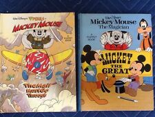 Walt Disney Mickey Mouse Mail Must go Through 1993 Puppet Book & 1981 Vtg Great