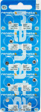 10 pc Renata 337 Watch Batteries 337 SR416SW FREE SHIP 0% MERCURY