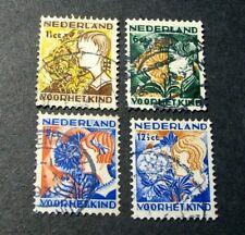 Netherlands Semi-Postal Scott# B58-B61 Child Welfare Societies 1932   C540