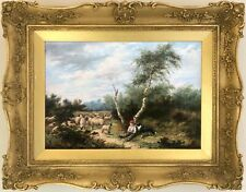 The Young Shepherd Antique Oil Painting by J. McKay (British, 19th Century)
