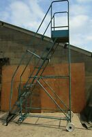 VERY VERY LARGE  - STEP LADDERS  - 2280 mm TO THE PLATFORM - BRITISH MADE