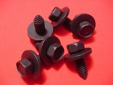 "6 GM 3/8-16 x 1"" Long Indented Hex Head Fender Body Bolts Fasteners w/Washer NOS"