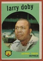 1959 Topps #455 Larry Doby VG-VGEX+ Hall of Fame Detroit Tigers FREE SHIPPING