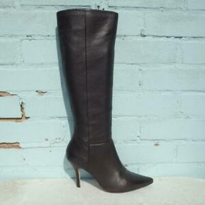 Kurt Geiger Leather Boots Size UK 6 Eur 39 Womens Shoes Stiletto Brown Boots