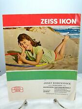 Vintage ZEISS IKON CAMERA Dealer SALES BROCHURE - Ephemera Catalog - GERMAN