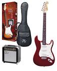 Kit chitarra elettrica 3/4 + amplificatore  accordatore e accessori SX Rosso for sale