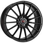 4-revolution R26 18x8 5x112 40mm Satin Black Wheels Rims 18 Inch