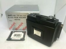 [MINT IN BOX w/ Mask]  Mamiya RB67 Pro SD 120 6x4.5 645 Film Back HA702 JAPAN