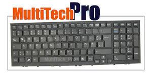DE Tastatur f. Sony Viao VPC-EH VPCEH Series mit Rahmen - Schwarz -