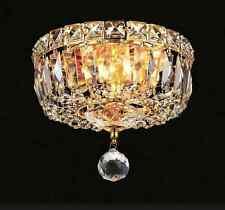 NEW ELEGANT TRANQUIL FLUSH MOUNT 2 LIGHT GOLD DINING ROOM FOYER & HALLWAY 2528F8