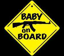 BUY ONE GET ONE FREE BABY GUN ON BOARD Window Decal/Sticker Yellow CD size