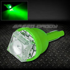 1 SUPER FLUX LED T10 W5W 194 168 EXTRA GREEN AUTO INTERIOR DOME WEDGE LIGHT BULB
