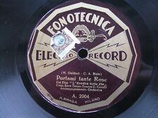 C CORELLI 78 RPM PORTAMI TANTE ROSE SLOW TANGO 1935 ITALIAN FONOTECNICA 2904/5