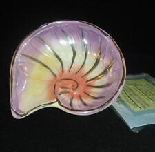 Blue Sky Clayworks Mineralogy Nautilus Shell Bowl 2008 Nib