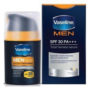 VASELINE Men AntiSpot Skin Whitening Total Fairness Serum Visble SPF30 PA+++50g.