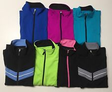Petite Be Inspired Ladies Full Zipper front long sleeves Active wear Top NWT.