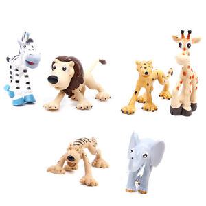 6 Plastic Forest / Jungle Wild Animals Set Childrens Toys Party Bag Favour
