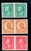 US Stamp SC #575-577 Imperf Pair Regular Issues Full Set SuperB