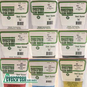 Evergreen Polystyrene Sheet Styrene Model Scratch Building Plastic White Black