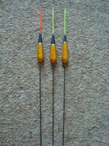 3 x WE311 Pole Floats 3 x 1.0g or 3 x 0.8g with added silicon Red or Yellow tip