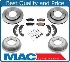 00-04 Tracker Frt Brake Disc Rotors Ceramic Pads Brake Drums Shoes Springs 7pc