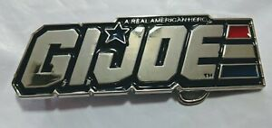 * GI JOE Chrome Color Logo Belt Buckle Cosplay comic con collectible desktopShow