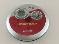 Philips Portable Cd Player Jogproof Red Skip Protection Ax3312/07 Works!
