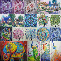 Flower Special Shaped 5D DIY Diamond Painting Embroidery Cross Stitch Kits Decor
