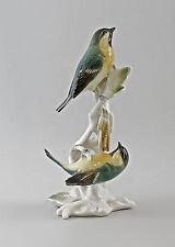 Figurine en Porcelaine Oiseaux Ens Groupe Sizerin flammé H23cm 9997594