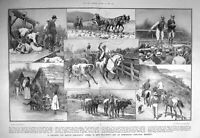 Old Antique Print 1908 British Emigrants New Zealand Sheep Steers Farm 20th