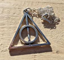 "HARRY POTTER ""Silver"" Horcrux Symbol Movie Fashion Necklace Pendant **NEW**"
