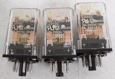 (3) NTE R02-11D10-110 Relay 10A 240VAC/28VDC 5A 240VAC 1/3HP 240VAC 1/6Hp 120VAC