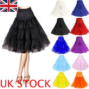 UK Retro Underskirt 50s Swing Vintage Petticoat Rockabilly Tutu Fancy Net Skirt