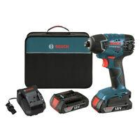 "Bosch 18V Li-Ion 1/4"" Impact Driver w/ Batteries 25618-02 Certified Refurbished"