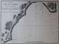 PORT DE SAN PEDRO, EST DU CAP DE GATE ,1862, PLANS PORTS RADES MER MEDITERRANEE