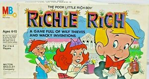 MB Richie Rich Board Game 1982 Milton Bradley Harvey Cartoon Comic Complete 4210