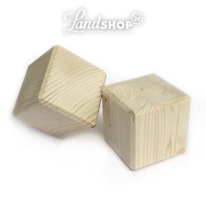 Lichterbogen Erhöhung Schwibbogen Sockel Bank Ständer 10x10x10 cm 2 Holzwürfel