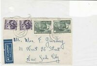 austria 1956 united nations air mail stamps cover ref 21199
