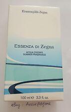 Ermenegildo Zegna Essenza Di Zegna Acqua D'Estate Summer 100ml EDT Spray 2008
