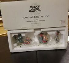 """Caroling Thru The City"" Set Of 3 by Dept 56 Village item #5548-4"