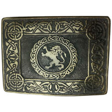AAR Men Kilt Belt Buckle Celtic Rampant Lion Antique Finish