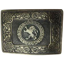 Belt Buckle Brand AAR Men Kilt Celtic Rampant Lion Antique Finish Style Classic