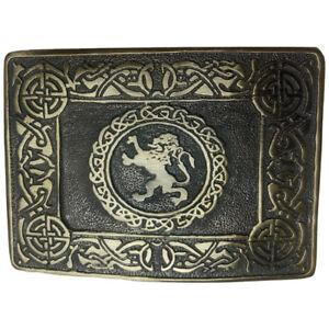 Scottish Rampart Lion Design Kilt Belt Buckle High Quality Antique Finish AAR