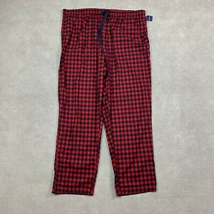 Nautica Men's Sleepwear 2XL Pajamas XXL Plaid 1 Piece Red Soft Comfort