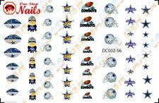 56pcs Dallas Cowboys Minions Nail Art Decals Stickers Transfers. DC002-56