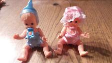 lot 2 mini poupée articulées 10 cm vintage made in italy