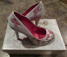 Ed Hardy Women's 'Haute Heels' Pumps NIB Brand New Size 7 White 11SHA102W