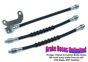BRAKE HOSE SET Ford Country Squire 1967 1968 - Front Drum